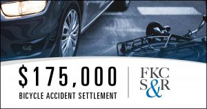 $175,000 bicycle accident settlement for NYC man