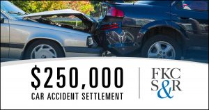 $250,000 car accident settlement just before trial