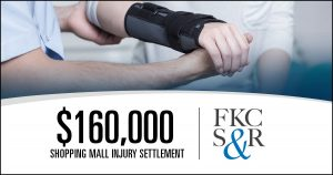 $160,000 case settlement for woman injured at shopping mall