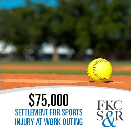 softball injury settlement