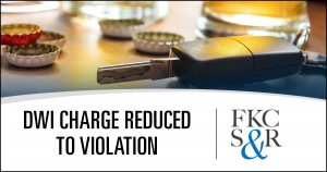 DWI charge reduced to violation for client in Red Hook