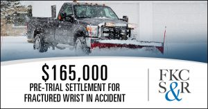 $165,000 pre-trial settlement for fractured wrist in Pleasant Valley vehicle accident